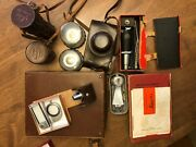 Leica Iiig Dbp 35mm Film Camera With 5 Lens Filters Flash Cases Manual Book