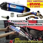 Exhaust System Titanium Tip Stainless Steel Neck For Crf 300l- Rally 2020 2021