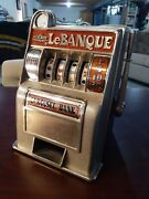 Vintage Toy Slot Machine Bank Carousel Le Banque - Everything Works