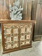 Eclectic Farmhouse Cabinet Chest Antique Door Sideboard Reclaimed Old Teak Chest