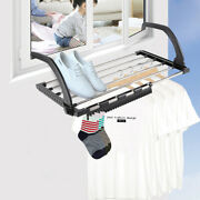 Folding Towel Drying Rack Stainless Steel Clothes Hanging Racks For Balcof4