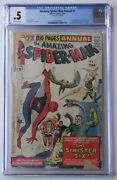 Amazing Spider-man Annual 1 Cgc 0.5 1964 1st App Of Sinister Six