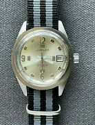 Vintage Jubilee Longines Wittnauer Skin Diver Manual Stainless Steel Watch 37mm