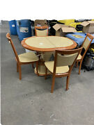 Oval Dining Room Set Table 4 Chairs