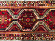 3x11 Vintage Runner Rug Wool Hand-knotted Geometric Antique Handmade 3x10 3x12
