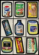 1974 Topps Wacky Packs Series 10 Complete Set 30/30 Ex- Packages Pupsi Cola