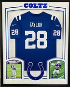 Colts Jonathan Taylor Signed Framed Autographed Authentic Football Jersey Fanat