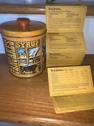 Vtg Quaker Oats Pancake And Syrup Tin Canister Limited Edition 1983