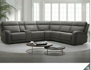 Gilman Creek Paisley Leather Reclining Sectional Sofa With Power Headrests And Usb