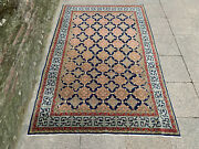 4and0398and039and039 X 7and0391and039and039 Vintage Natural Rug Village Rug Handmade Carpet.skuh1141
