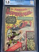 Amazing Spider-man 14 Cgc 1.5 1st First Appearance Green Goblin Looks Like 6.5