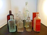 Lot Of Vintage Medicine Apothecary And Household Bottles - Assortment Of 8 Total