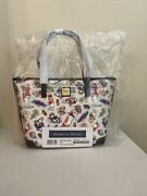 Disney Dooney And Bourke Captain Mickey And Friends Ink And Paint Cruise Tote Nwt