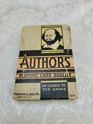 Vintage Authors Card Game Whitman, Shakespeare Original Box And Cards Rare Ed.