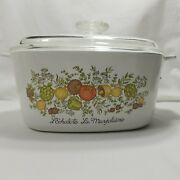 Vintage Corning Ware Spice Of Life Casserole Dishandnbspa-3-b 3l And Lid - Stamp Smudged
