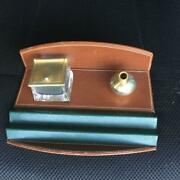 Rare Authentic Vintage Inkwell Pen Holder Stand