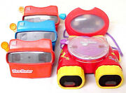Lot Of 5 View-master 3d Vintage Retro Mixed View Master Toys Mattel Fisher Price