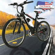 500w 48v Fat Tire Electric Bike Mountain Bicycle Snow Beach Ebike Best Red Great