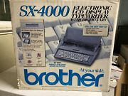 Brother Sx-4000 Portable Electronic Typewriter Digital Display - Used In Box