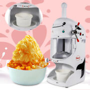 Electric Ice Shaver Snow Cone Maker Commercial Shaved Ice Machine 350w 90kg/h Us