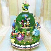 Mickey Mouse Beauty And The Beast Alice In Wonderland Ariel Monorail Snow Globe