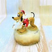 Limited Edition Pluto Christmas Santa Hat Letter Lonely Collection Marble Figure