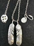 18k Metal Extra Large Feather Silver