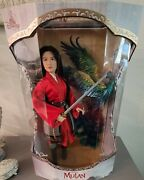Disney Store Exclusive Mulan Limited Edition Doll. New Iob 1/3,400 W/coa