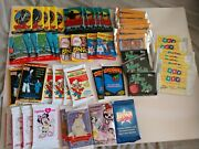 Huge Lot Of 57 Unopened Wax Packs Of Non-sports Cards Anime Movies Tv