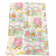 """Set Of 2 Vintage Strawberry Shortcake Twin Flat Sheets Fabric Curtains 66x90"""""""