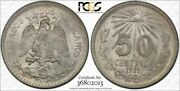 1921-mo Pcgs Ms64 Mint State 50 Centavos 50c Mexico Coin Item 28800a