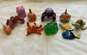 Lot Of 9 Disney Pixar Finding Nemo / Finding Dory Pvc Figures Toys Cake Toppers