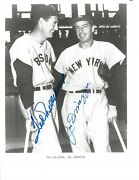 Ted Williams And Joe Dimaggio Autographed 8x10 Photo Red Sox Yankees Baseball Psa