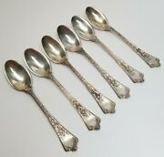 Set Of 6 - And Co. Sterling Silver 1872 Ice Cream Spoons 6-1/4 No Mono