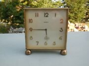 Parts Or Repair / Vintage Semca 8 Day 7 Jewel 2 Sided Desk Clock / Safe Shipping
