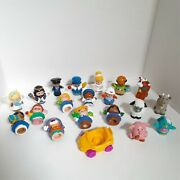 Lot Of 20 Fisher Price Little People Animals Figures Vehicle Pig Bird Cow King