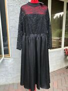New Torrid Special Occasion Black Lace And Tulle Midi Dress Size 22