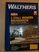 Ho Scale Walthers Cornerstone Kit 933-2900 3-stall Modern Roundhouse