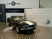 Franklin Mint 1970 Mustang Mach 1 Rare Dads Cats Le 124 Nos Docs..undisplayed