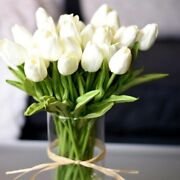 10pcs Tulip Artificial Bouquet Fake Flower Look Real Home And Garden Decor Ideas