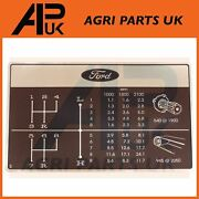 Gear Change Shift Decal Sticker For Ford 5340 5600 6600 6700 7000 7100 Tractor