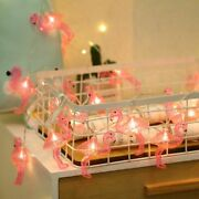 Flamingo Led String Lights Garland Fairy Christmas Holiday Party Outdoor Home