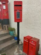 Genuine Post Office Lamp Box Post Box Royal Mail And Original Stand/foot