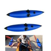 Set Of 2 Kayak Outriggers/stabilizers System Inflatable Float For Canoe Fishing