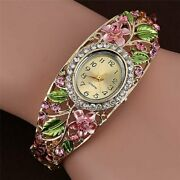 Gorgeous Crystal Enamel Dress Watches Multiple Colors Easy On And Off Clam She