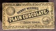 Antique Plain Chocolate Tin Henry Mccobband039s New York With Grater For Chocolate