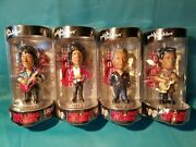 Rolling Stones Set Of 4 Bobbleheads Never Opened Mick Keith Charlie Watts And Ron