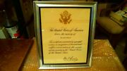 President John F. Kennedy Autopen Signed Armed Forces In Memory Certificate
