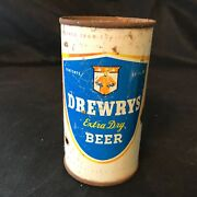 Vintage Drewrys Extra Dry Beer 12 Oz Flat Top Beer Can Mountie - Chicago, Ill.