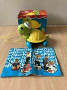 Vintage 1977 Fisher Price 644 Pull Along Turtle With Original Box And Brochure